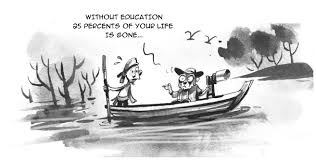 Steem Cartoon : The Professor and The Boatman — Steemit
